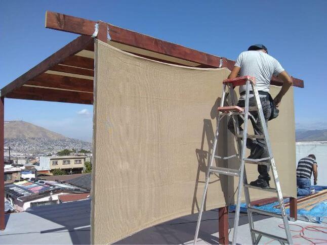 Estructura de malla sombra en Tijuana