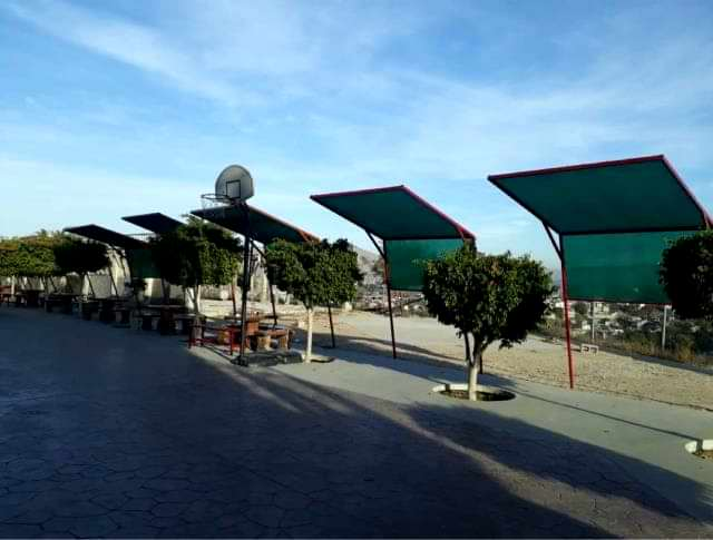 Malla sombra en Tijuana en cancha deportiva
