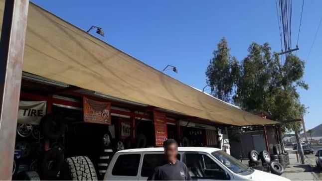 Malla sombra para autos en Tijuana