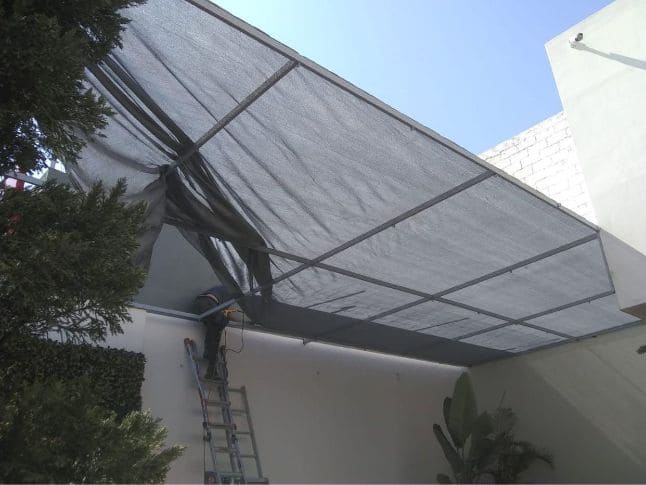 Malla sombra para construcción en Tijuana