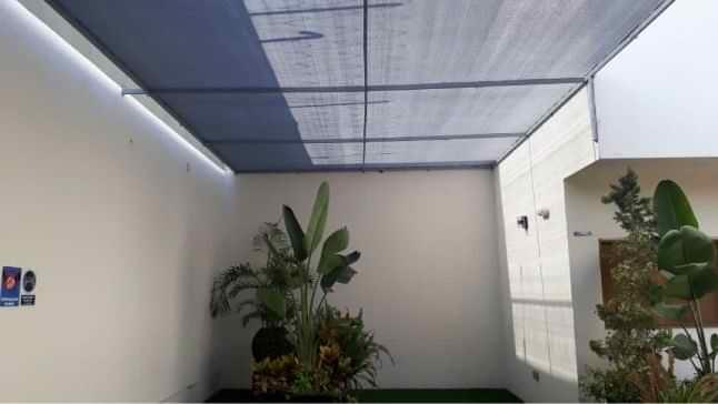 Malla sombra para patio en Tijuana