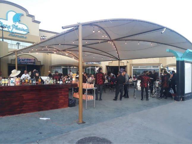 Tela sombra para negocios en Tijuana