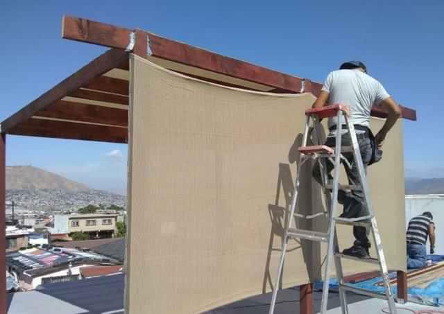 Pérgola de madera en Tijuana medida de 2x3